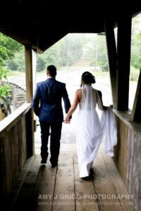 Wedding Couple Covered Bridge